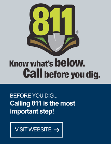 Know what's below, Call before you dig.